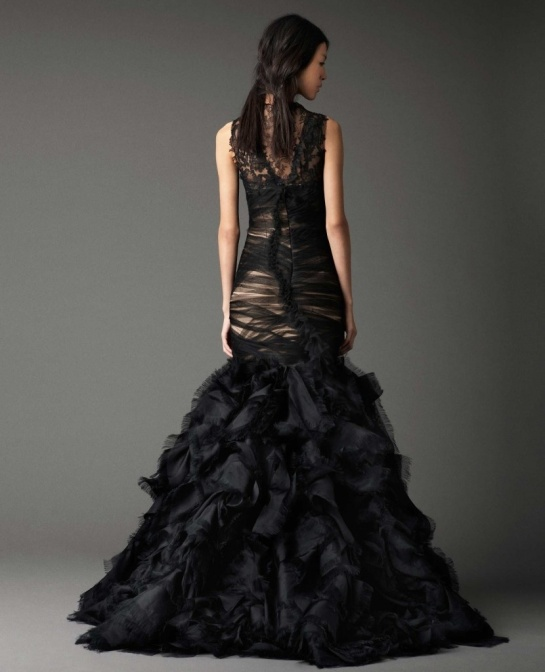 Vera Wang Black Wedding Dress Back